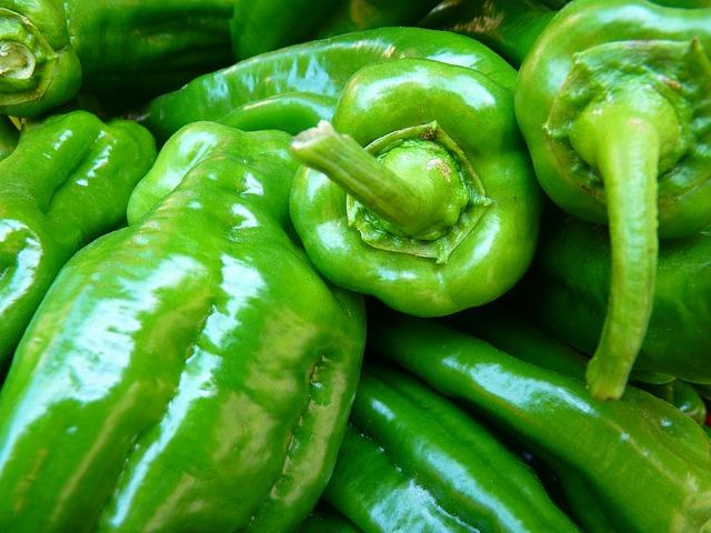 zelené papriky