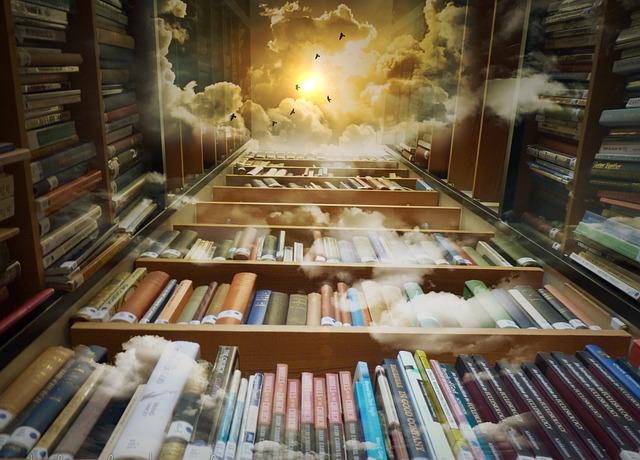 nebe nad knihovnou