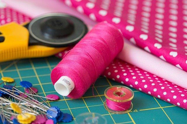 materiál na šití